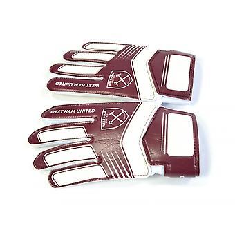 West Ham FC Childrens/Kids Goalkeeper Gloves