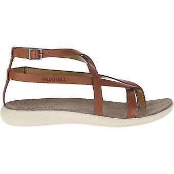 Merrell Womens/Ladies Duskair Seaway Thong Cushioned Leather Sandals