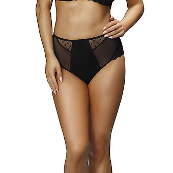 Nessa P2 Women's Paris Black Solid Colour Knickers Panty Full Brief