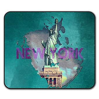 New York Freedom City USA  Non-Slip Mouse Mat Pad 24cm x 20cm | Wellcoda