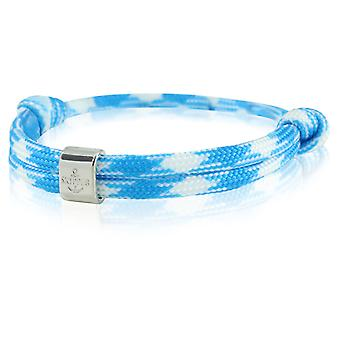 Skipper bracelet surfeur bande nœud maritimes bracelet bleu/blanc 6776