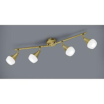 Trio Lighting Trumpet Modern Old Brass Metal Spot