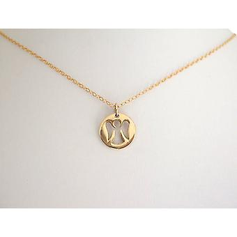 Necklace gold plated Angel guardian angel pendant guardian angel necklace bronze