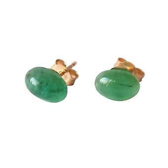 Smaragd Ørestikker forgyldt øreringe Emerald ANTONIA