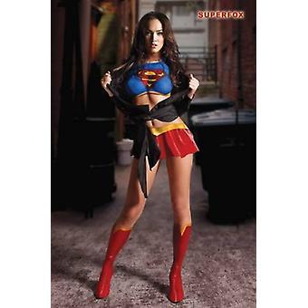 Megan Fox Superfox Poster Poster afdrukken