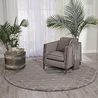 Twi15 de alfombras circulares Nourison Crepúsculo en gris