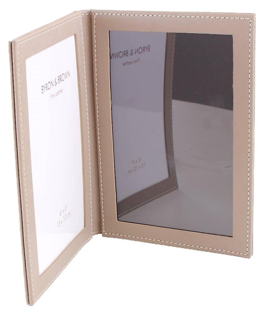 Byron and Brown 2 Fold Travel Frame 6x4 - Florence Beige