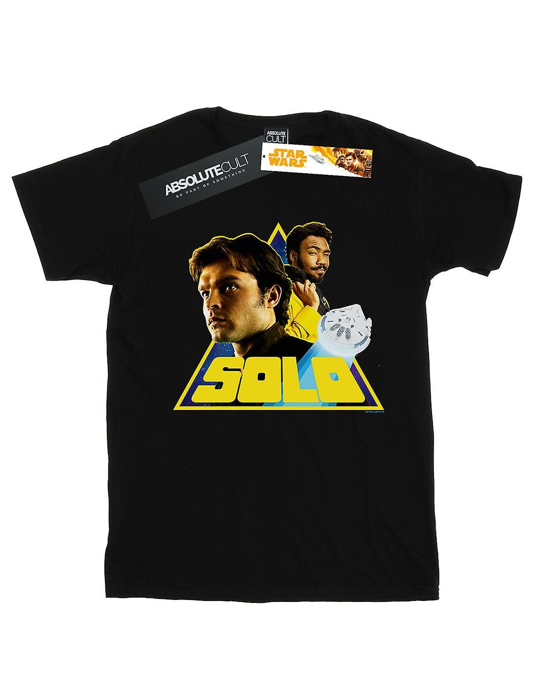 Star Wars Women's Solo Retro Triangle Boyfriend Fit T-Shirt