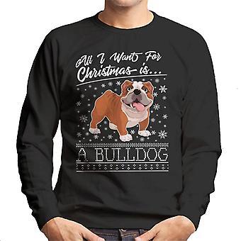 All I Want For Christmas è un Bulldog modello maglia felpa