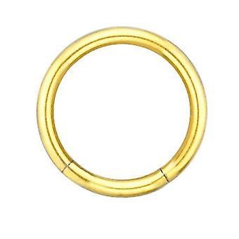Segment Ring Piercing goud vergulde lichaam sieraden, dikte 1,6 mm | Diameter 8-14 mm