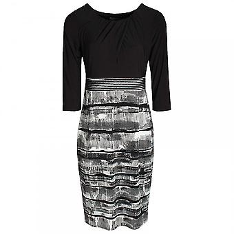 Michaela Louisa Monochrome Long Sleeve Fitted Dress