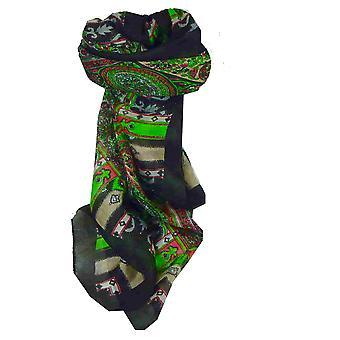Mulberry foulard carré de soie traditionnel Aimee Black de Pashmina & soie