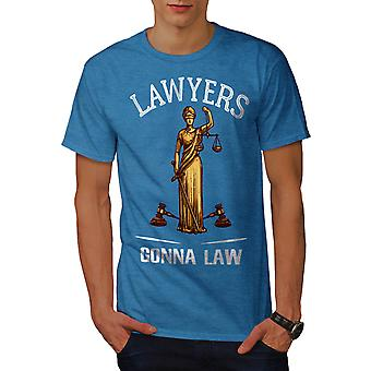 Lawyers Gona Law Men Royal BlueT-shirt | Wellcoda