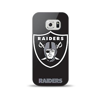Mizco Sports NFL Oversized Snapback TPU Case for Samsung Galaxy S6 (Oakland Raiders)