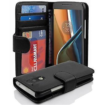 Cadorabo Hülle für Motorola MOTO G4 / G4 PLUS Case Cover - Handyhülle mit Magnetverschluss und 3 Kartenfächern – Case Cover Schutzhülle Etui Tasche Book Klapp Style
