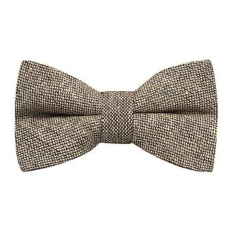 Highland Weave Latte Brown Bow Tie