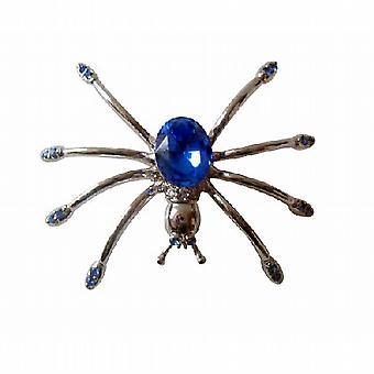 Gorgeous Austrian Sapphire Crystals Spider Brooch