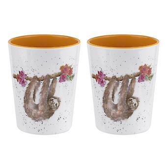 Wrendale Designs Sloth Set of 2 Melamine Beakers