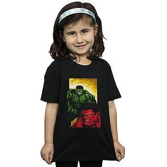 Marvel Mädchen rote Hulk Vs grüne Hulk T-Shirt