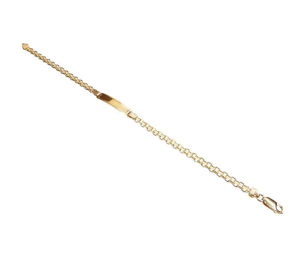 Gouden plaat armband