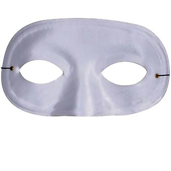Half Domino Mask White For Adults