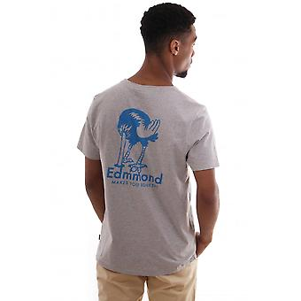 Edmmond studios Ss Cn T Shirt With Ostrich Print On Back