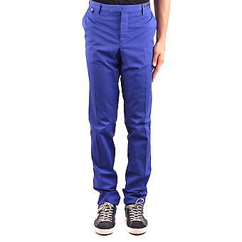Pt01 Ezbc084046 Men's Blue Cotton Pants