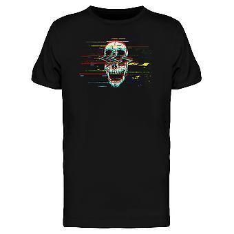 スカル グラフィック t シャツ男性を叫んでグリッチ-シャッターによる画像