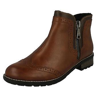 Ladies Rieker Zip Ankle Boots Y3361