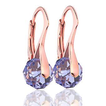Ah! Schmuck Tansanit Briolette Kristalle von Swarovski Ohrringe, Sterling Silber