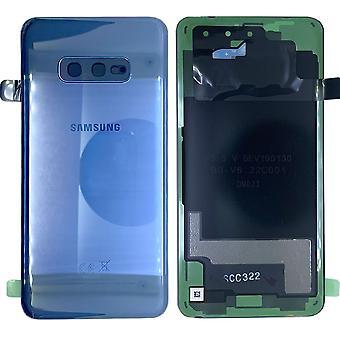 Samsung GH82-18452C Akkudeckel Deckel für Galaxy S10e G970F + Klebepad Prism Blue / Blau Neu