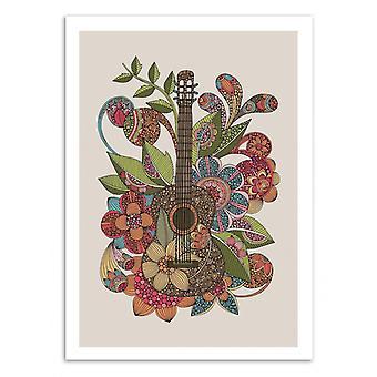 Art-Poster-ever Guitar-Valentina Harper 50 x 70 cm