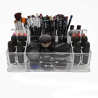 OnDisplay Deluxe akryyli meikki ja korut organisaatio tarjotin - täydellinen turhamaisuus, kylpyhuone laskuri, tai dresser