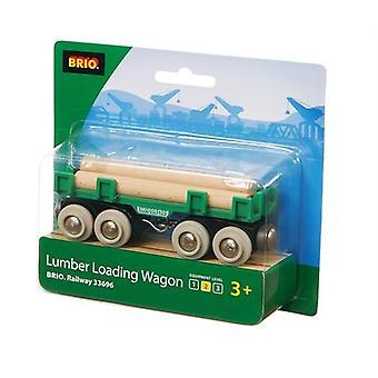 BRIO Bahn BRI-33696 Bauholz Beladung Waggons
