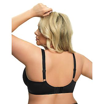 Gorsenia K441 Women's Luisse Black Lace Non-Padded Underwired Full Cup Bra