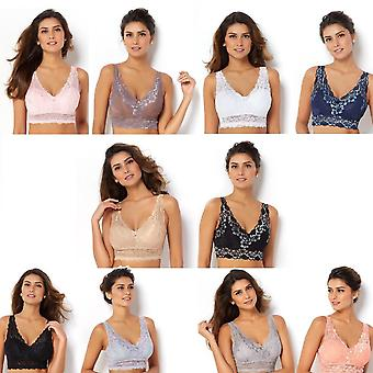 Rhonda Shear 2-Pack Lace w/ Removable Pads w/ Accent Bras 539-606