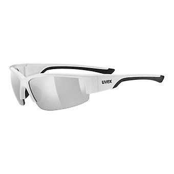 Uvex Sportstyle 215 Black and White Miroité Silver