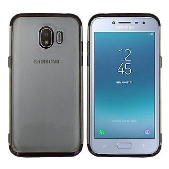 Samsung J2 Pro 2018 Støtfanger Tilfelle Svart - Backcover Clear