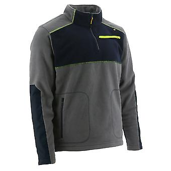 CAT Workwear Mens Argo Quarter Zip Polyester Fleece Jacket