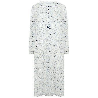 Slenderella ND4101 mulheres ' s Jersey camisola de algodão floral
