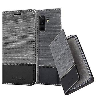 Case for Samsung Galaxy A6 PLUS 2018 Foldable Phone Case - Cover - with Stand Function and Card Tray