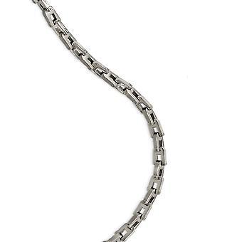 Edelstahl Fancy Hummer Verschluss gebürstet und poliert Halskette 20 Zoll Schmuck Geschenke für Frauen