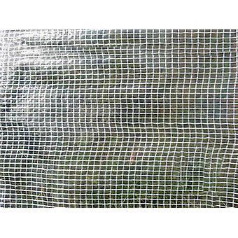 Afdekzeil 10x14m, Versterkt PE 200g/m², Transparant