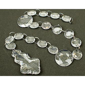 17mm klart 50cm akryl diamant perle Garland for håndverk - lysekrone anheng