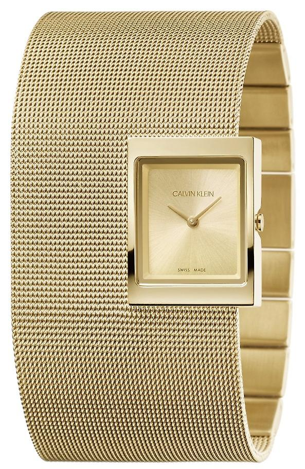Calvin Klein Offsite Quartz Gold PVD Mesh Bracelet Ladies Watch