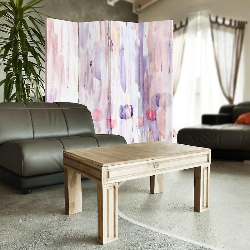 Diviseur de chambre, 4 panneaux, toile, fleurs peintes 3