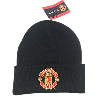 New era unisex licensed manchester united cuff knit hat beanie - black