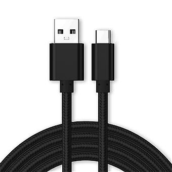 Kit Me Out Micro USB, 3.1 Amp Fast Charge Nylon Braided Cable 1M 2M 3M Compatible with Huawei P Smart (2019), Charging Data Sync Cable Lead Cord, 1 2 3 Metre