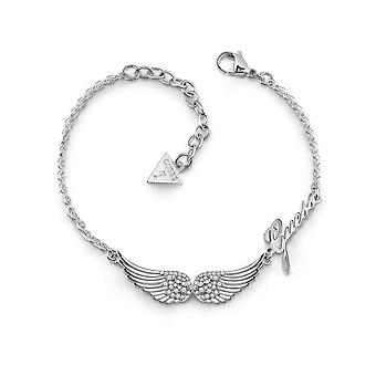 Guess Jewellery Double Pave Wings Silver Bracelet UBB29083-L