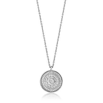 Ania Haie Sterling Silver Rhodium Plated Verginia Sun Necklace N009-05H